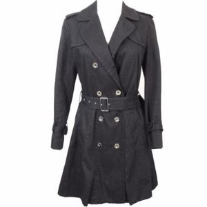 Marc by Marc Jacobs Trench Coat Black Belted 1556D